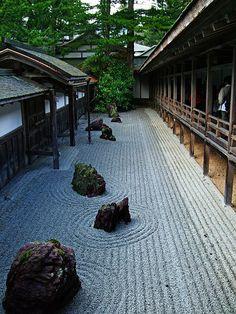 Kongobu-ji Temple rock garden, Japan