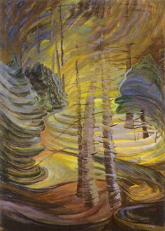 Dancing Sunlight (ca. - Emily Carr, Canadian Group of Seven Tom Thomson, Canadian Painters, Canadian Artists, Emily Carr Paintings, Group Of Seven, Impressionist Paintings, Canada, Tree Art, Illustration Art
