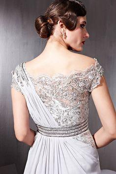 Chiffon And Lace Bridal Dress
