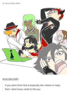 Rwby villains no, this is pretty accurate