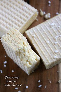 Domowe wafle waniliowe | sio-smutki! Monika od kuchni Polish Recipes, Polish Food, Homemade Cakes, Sweet Tooth, Food And Drink, Sweets, Bread, Cooking, Easy