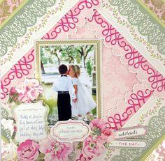 Beautiful Borders - Wedding scrapbook page