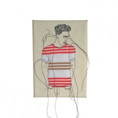 Stripy tee Free Motion Embroidery, Embroidery Art, Contemporary Embroidery, Sewing, Illustration, Fashion, Moda, Dressmaking, Couture