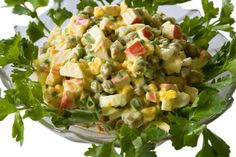 Pea and Boiled Egg Crab Salad