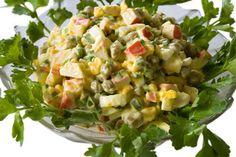 Pea and Boiled Egg Crab Salad