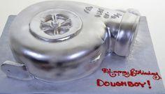 """Pastry Palace Las Vegas - """"Turbo.""""  Silver Turbo Shape. Specialty & Grooms Cake #407."""