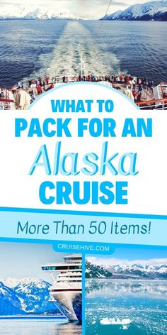 holiday packing If you have an Alaska cruise vacation coming up then there are more than 50 things you can pack. Here is the ultimate Alaska packing list including clothing. Cruise Excursions, Cruise Destinations, Cruise Port, Cruise Travel, Cruise Vacation, Vacation Checklist, Vacation Travel, Honeymoon Cruise, Vacations