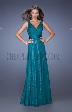 Affordable Sequin Underlay Evergreen La Femme 19631 Prom Dresses