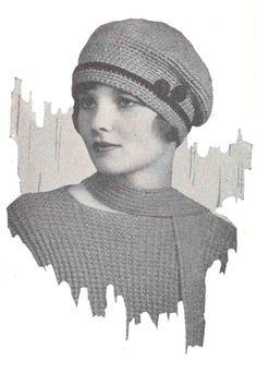 Vintage Suffolk Hat Crochet Pattern 1920s Flapper PDF by 2olddivas, $3.00--this one's cute