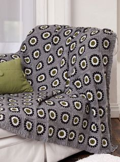 Urban Granny Throw designed by Margret Willson. Free pattern download