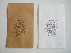 Gastgeschenke - ♥ 10 Tütchen Gastgeschenke LET LOVE GROW ♥ - ein Designerstück von Malika-Shop bei DaWanda