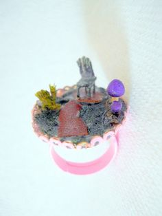 Miniature Fairy Garden Ring Miniature Chair by CrystalynsDreamery, $20.00