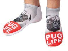 Chaussettes courtes: Socquettes avec motifs Taille: 36 - 39 pour femme ou Ados fille garçon Une petite touche d'humour, d'amour, de tendresse, de fantaisie, et surtout d'originalité, choisir:carlin Pug Life SO-18