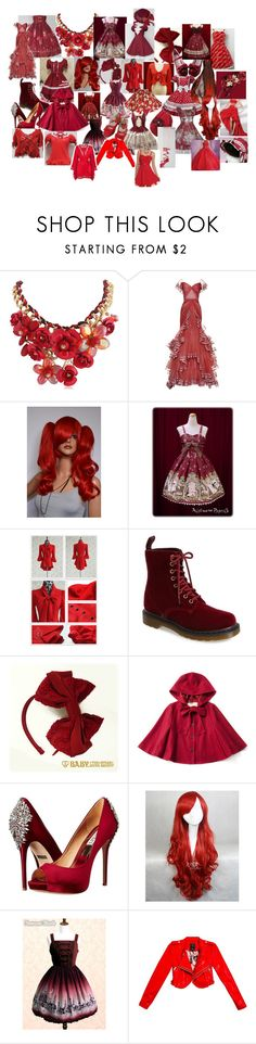"""""""My Favorite Things: Red (REDUX)"""" by ladymienshao ❤ liked on Polyvore featuring Zac Posen, Dabuwawa, Dr. Martens, Monique Lhuillier, Badgley Mischka, GUESS and Agent Provocateur"""