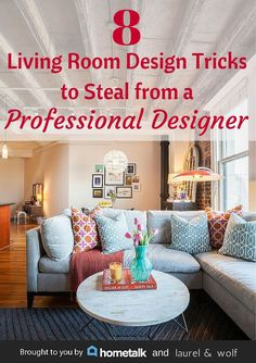 Living room design tricks from a professional designer