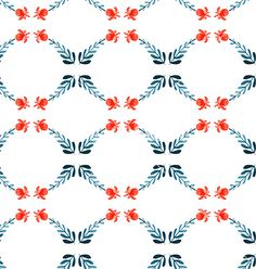 Floral Watercolor seamless pattern vector by Favete on VectorStock®