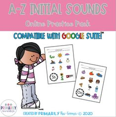 A-Z Initial Sounds Distance Learning Practice Packet by Primarily Au-Some