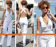 love this white jumpsuit