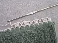 """I love this third edging. """"Jonquils"""" is a little more difficult, but not much. The picot stitches on top of the double crochets remind m..."""