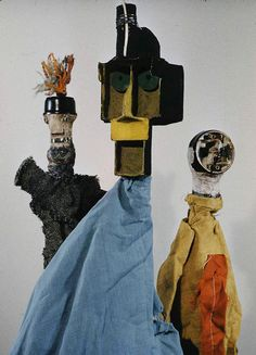 photographs by Loomis Dean of Paul Klee's puppets...