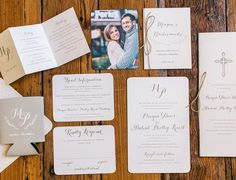 rustic sweet wedding stationery // Paper Daisies Stationery // Atlanta wedding // wedding monogram // wedding koozie