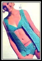 Free Retro Crochet Bikini and Cover-Up Pattern