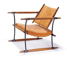 Jens Quistgaard De-mountable armchair Designed c. 60s Furniture, Campaign Furniture, Danish Modern Furniture, Leather Furniture, Cabinet Furniture, Unique Furniture, Modern Chairs, Furniture Design, Love Chair