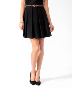 Essential Box Pleated Skirt | FOREVER21 - 2019572554
