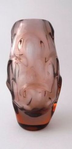 Art Glass Bohemian/czech Ingenious Rare Vintage 70s Czech Prachen Art Glass Vase Josef Hospodka