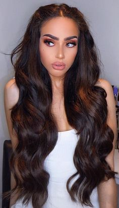 hairstyles for long hair \ hairstyles ; hairstyles for thin hair ; hairstyles for medium length hair ; hairstyles for short hair ; hairstyles for long hair ; hairstyles for black women ; hairstyles for curly hair ; hairstyles for thin hair fine Prom Hairstyles For Long Hair, Wig Hairstyles, Hair For Prom, New Year Hairstyle, Wedding Hairstyles, Bangs Hairstyle, Hairstyles Videos, Hair Bangs, Style Hairstyle