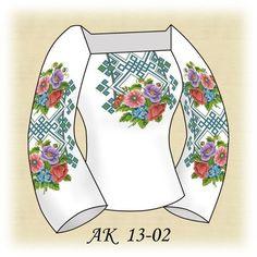 Заготовка к вышиванке женской Букет маков АК 13-02 Д