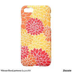 Vibrant floral patterns iPhone 7 case