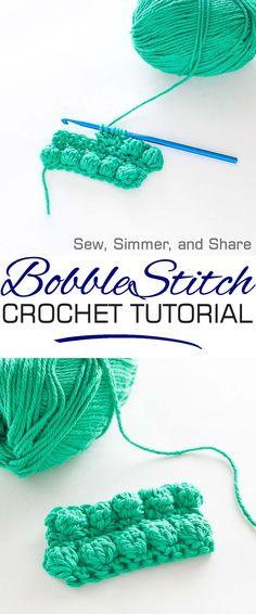 How To Bobble Stitch | SewSimmerAndShare.com #crochet #tutorial