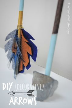 DIY Decorative Arrows - we LOVE arrow accents in a nursery. Check out the step-by-step tutorial!