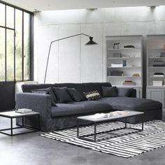 Canapé d'angle néo kinkajou, toile lin froissé, bultex Am.Pm | La Redoute
