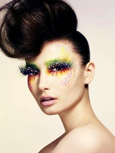 Possible inspiration for fantasy makeup project.