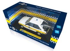 Model-Icons packaging for Ford Escort  Cambridgeshire Police Car