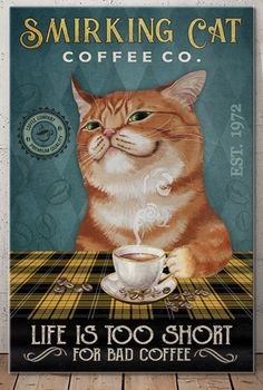 Crazy Cat Lady, Crazy Cats, I Love Cats, Cool Cats, Black Cat Art, Cat Posters, Oldschool, Cat Quotes, Here Kitty Kitty