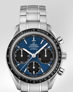 OMEGA Watches: Speedmaster Racing Co-Axial Chronograph 40mm - Steel on steel