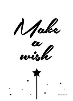 Oh my home gallery - Affiche make a wish