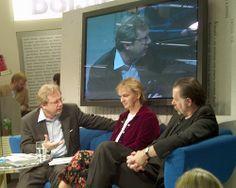 Elke Heidenreich  + Bernd Schroeder auf dem Blauen Sofa