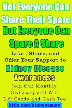 Kidney Awareness.... :) :) :)