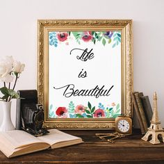 """Items similar to PRINTABLE Art """"Love is always the Answer"""" Typography Art Print Floral Art Print Love art Print Love Wall Art Inspirational Art Print on Etsy Nursery Bible Verses, Bible Verse Art, Printable Bible Verses, Printable Wall Art, Bible Quotes, The Best Is Yet To Come, As You Like, Nursery Wall Art, Wall Art Decor"""