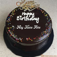 Chocolate Yummy Happy Birthday Cake With My Name Chocolate Cake With Name, Happy Birthday Cake Photo, 15 August Independence Day, Birthday Wishes Messages, Cake Templates, Cake Name, Birthday Wallpaper, Cake Online, Desserts