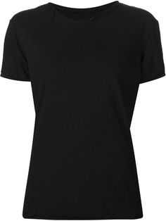 Sometimes simple is good. Black cotton 'Wrecked' T-shirt from Greg Lauren.
