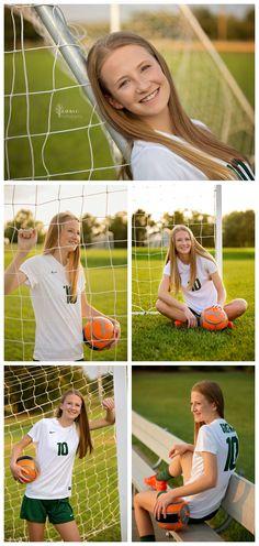 Senior Portraits by Laura C. Cute Soccer Pictures, Soccer Senior Pictures, Soccer Poses, Soccer Images, Girl Senior Pictures, Team Pictures, Soccer Photography Poses, Photography 2017, Photography Senior Pictures