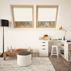Skylight Blinds Direct Beginners Guide: What are the Different Types of Loft Conversion? Skylight Blinds, Skylight Window, Blinds For Windows, Loft Conversion Types, Loft Conversions, Patterned Blinds, Living Room Blinds