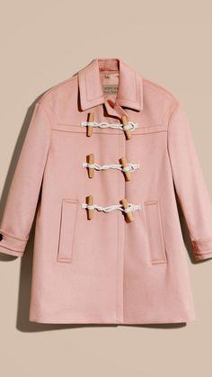 Cashmere Duffle Coat Chalk Pink | Burberry