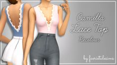 """faerietalesims: """" Camilla Lace Top Recolours yes another one, get used to it, ur welcome! - 20 swatches in my colour palette (which i really need to name lmao) - custom thumbnail - requires mesh by @smubuh! ♥ - standard tou; don't reupload, claim as..."""
