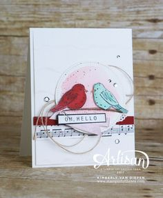 It's time for another Stampin' Up! Artisan Blog Hop. Be Inspired using the Color Me Happy Stamp Set from Stampin' Up! using the Stampin' Blends.